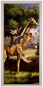 Ангелы, одолевающие киборга-жирафа
